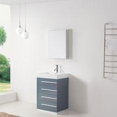 kokols tempered glass top 30-inch single sink bathroom vanity with