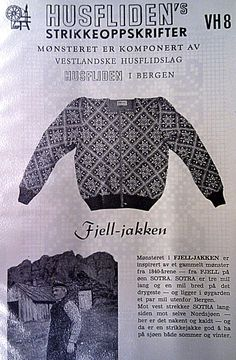 Husfliden Fjell-jakken VH8 Norwegian Knitting, Knitting Charts, Knits, Crocheting, Knitwear, Knitting Patterns, Knit Crochet, Graduation, Textiles
