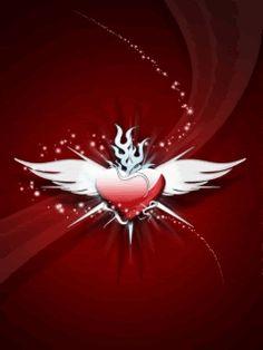 Hình nền động trái tim đẹp lung linh