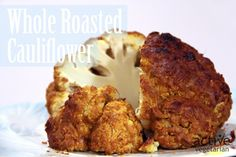 Roasted cauliflower in a