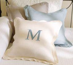 Chunky Linen Ruffle Pillow Cover | Pottery Barn