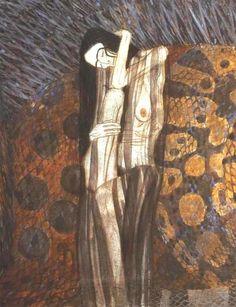 Gustav Klimt - Beethoven Frieze, The Hostile Powers (The Gnawing Sorrow)