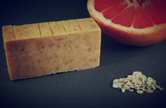 pink grapefruit and oatmeal cold process all by LucySueSoap