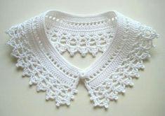 Crochet Collar Pattern, Crochet Ear Warmer Pattern, Col Crochet, Crochet Lace Collar, Crochet Headband Pattern, Lace Knitting, Crochet Patterns, Crochet Toddler Dress, Crochet Clothes