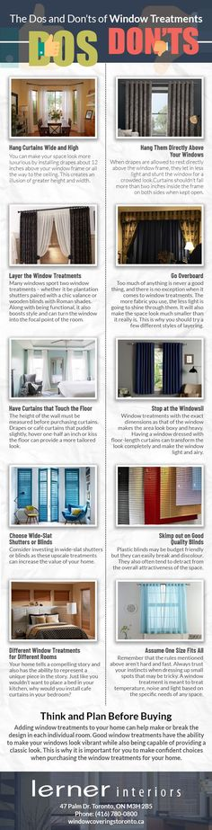 The Dos and Don'ts of Window Treatments - Toronto Window Treatments Ruin, Classic Looks, Window Treatments, Toronto, Choices, Windows, Classy Looks, Window, Ruins