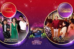 Madame Tussauds Singapore Full Experience Ticket Enjoy the Madame Tussauds Singapore Full Experience: Jump aboard the 'Spirit of Singapore', the first ever Madame Tussauds boat ride, and travel through our fantasy tropical garden; Step onto the stage with your favorite musicians and perform with some of the greatest artists on the planet. You have been invited to the most exclusive party in town set on a roof terrace with impressive views over Singapore's skyline; Dis...
