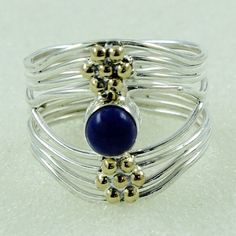 LAPIS STONE 925 STERLING SILVER RING _ SILVEX IMAGES #SilvexImagesIndia #Statement