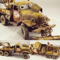 "Wow!!! ""ZIL-156 Truck"". Modelers Alexander Gololobov and Igoryn Esenin #scalemodel #plastimodelismo #miniatura #miniature #miniatur #maqueta #maquette #modelismo #modelism #modelisme #plasticmodel #plastimodelo #plastickits #usinadoskits #udk #hobby #diorama #rust #ferrugem #scalemodelkit"