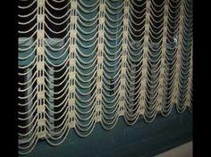 Teje una cortina con flores de ganchillo - YouTube