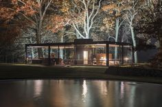 Philip Johnson Glass House Photographed by Lane Coder in Autumn Photos | Architectural Digest