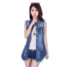 Ladies Waist Length Denim Vest #urbanstreetzone #urbanstreetwear #urbanclothes #urbanstyle #streetwear #streetbeast #streetfashion #hypebeast #outfitoftheday #outfitinspiration #ootd #outfit #outfitgrid #brand #boutique #highsnobiety #contemporary #minimalism #denimvest #ladies #vest #ladiesvest
