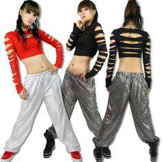 Hip hop Fashion clothes Ds top Cutout ds costume Hiphop jazz Stage clothes € 16,29