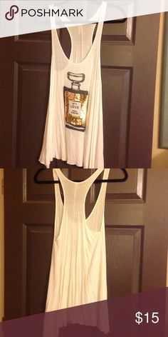 Perfume Racerback Tank The racerback tank is jersey material and has a sequined perfume bottle on the front. The Classic Tops Tank Tops