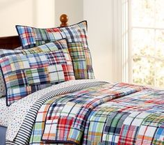pottery barn kids madris bedding - Google Search; love the comforter for big boy room