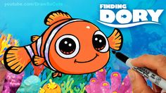How to Draw Nemo step by step Cute - Clown Fish Finding Dory