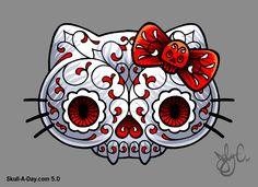 "Skull-A-Day: ""Hello Skully"" by Joby Cummings"