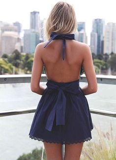 love the bow detailing on the back of the dress