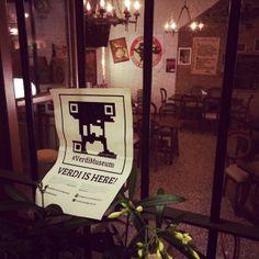 #verdiMuseum #foundVerdi Verdi è nato e vissuto nella terra in cui il #cibo viene messo in risalto come non mai. Oggi ho trovato #Verdi in un ristorante incredibile. #noceto #parma
