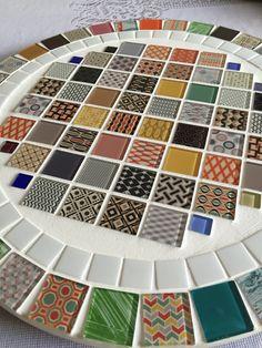 Bandeja giratória em mosaico!