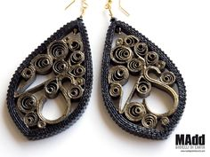MAdd Gioielli di carta / MAdd Paper jewels: ORECCHINI IN FILIGRANA / PAPER FILIGREE EARRINGS
