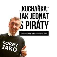 """Miliardář a premiér v demisi Andrej Babiš dostal od Pirátů """"Kuchařku"""" Czech Republic, Marketing, Instagram, Bohemia"""
