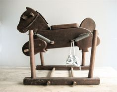 Vintage Wooden Rocking Horse. $125.00, via Etsy.