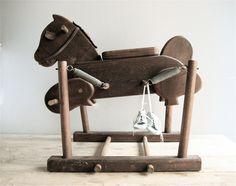 Vintage Wooden Rocking Horse. $125.00, via Etsy.