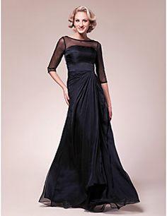 A-line Bateau Floor-length Chiffon Mother of the Bride Dress... – USD $ 119.99