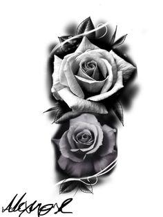 Super Drawing Rose Realistic Tattoo Ideas 47 Ideas Super Drawing Rose Realistische Tattoo-Ideen 47 I Rose Drawing Tattoo, Tattoo Sketches, Tattoo Drawings, Body Art Tattoos, Sleeve Tattoos, Rose Drawings, Drawing Flowers, Watercolor Tattoo, Rosen Tattoo Mann