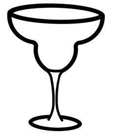margarita glass template made this on ds for our upcoming rh pinterest com margarita glass clip art free