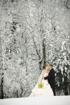 winter wonderland wedding idea photo #4
