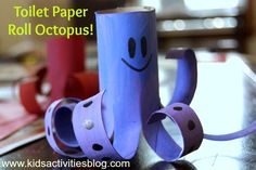 ☆ Easy Kids Craft: cute Toilet Paper Roll Octopus (click on pic for project details)