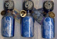 Art Deco/20's bottles 4 inches high