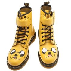 womens dr martens yellow adventure time jake boots