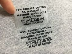 Customized heat transfer clothing label Heat transfer