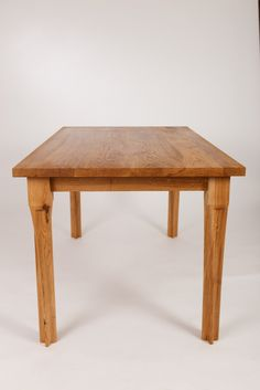 Twisted leg oak table