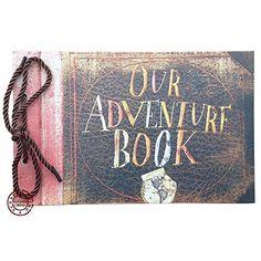 Our Adventure Book,Movie Pixar Up,80 Pages Hand Made Loose Leaf Kraft Paper DIY Photo Album,Anniversary Scrapbook,Wedding Photo Album