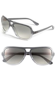 Free shipping and returns on Ray-Ban Aviator Sunglasses at Cool ombr�� shading colors lightweight aviators styled with a double bridge and raised metal logo ...