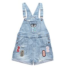 Denim onepiece with the logo on the front and back side, destroyed look, cotton For women, loose fit Lisa & Lena wear size S Loose Fit, Lisa, All About Fashion, Overall Shorts, Denim Shorts, One Piece, Fashion Outfits, Fitness, Cotton