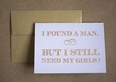 cute bridesmaid asking cards