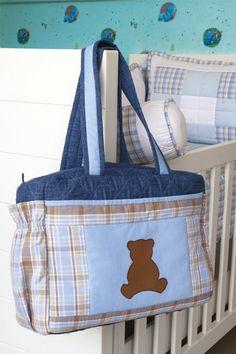 Bolsa de patchwork para bebê