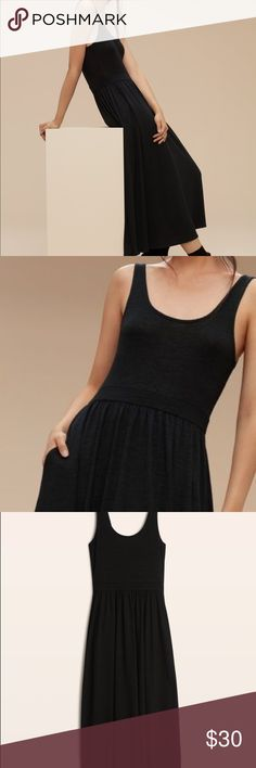 Black MUSE dress Super cute black maxi dress from aritzia! Only worn once. Perfect condition! Aritzia Dresses Maxi