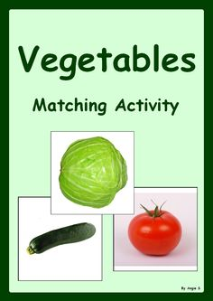 Vegetables Matching Activity- for more resources follow https://www.pinterest.com/angelajuvic/autism-special-education-resources-angie-s-tpt-sto/