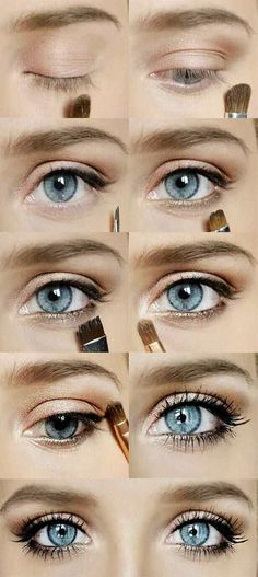 wedding makeup for blue eyes I like!