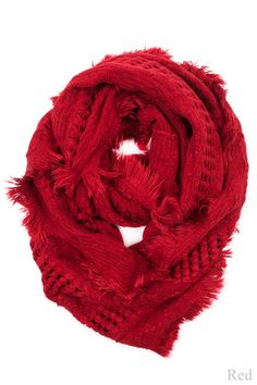 b039ba380e5 Love this red textured infinity scarf. Super cute with a piko top or tunic  Cute