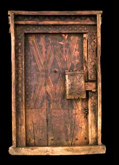 Africa | Door from the central Anti Atlas region ( Ida ou Kensous, Ida ou Nadif…,) Morocco | Wood | 18th century