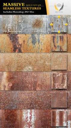 6 Seamless Rusty Metal Textures - Miscellaneous Textures / Fills / Patterns