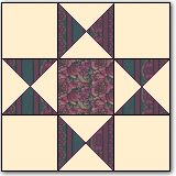 Ohio Star - pattern of a quilt made by my 3x great grandmother who came over on the Oregon Trail on a covered wagon.