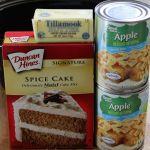 Crock pot Apple Spice Cake ingredients