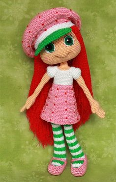 Амигуруми: Земляничка. Бесплатная схема для вязания игрушки. FREE amigurumi pattern. #амигуруми #amigurumi #схема #pattern #вязание #crochet #knitting